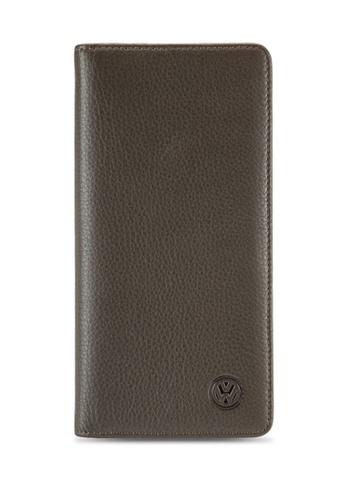 Volkswagen beige Volkswagen Genuine Leather Bi-Fold Long Wallet VO089AC25EISMY_1