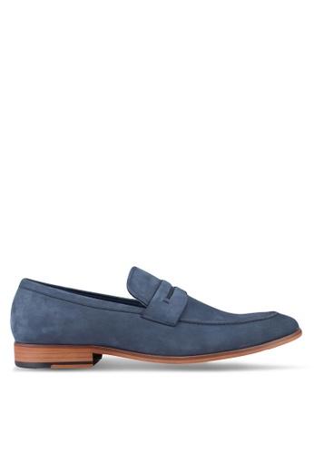 Dune London blue Smart Penny Loafers DU588SH83UDWMY_1
