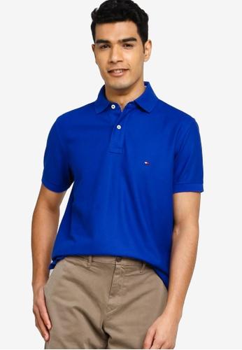 Tommy Hilfiger 藍色 Hilfiger Regular Polo Shirt 9CB3DAA55B5067GS_1