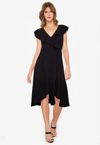 ZALORA BASICS black Ruffles Dress DA390AAC0D9B01GS_1
