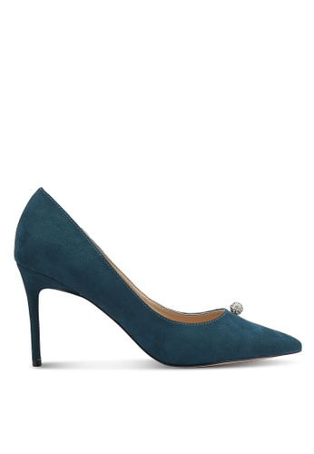ZALORA 綠色 Crystal Ball Court Heels 652DEZZEAD7BABGS_1