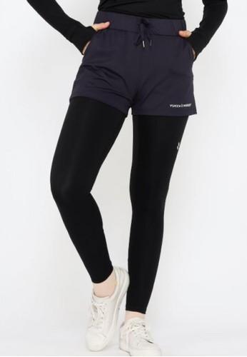 YUCCA MODEST navy Celana Pendek Olahraga Wanita Sport Hotpants Training Gym Dark Navy -Yucca Modest 2DBE6AA24FE385GS_1