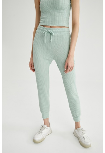 DeFacto blue Woman Knitted Trousers F08BFAA6E8C36BGS_1