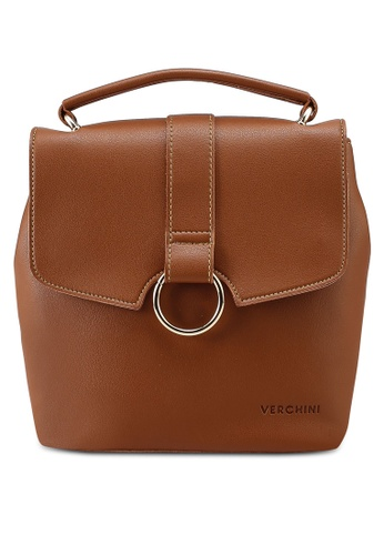 Verchini brown Verchini Mini Backpack Purse 1D0DAAC99ED0FFGS_1