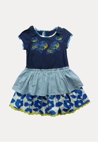 Bossini navy Bossini Kids Girl Dress Lt Marine (64191205050) DC11AKAB4473C0GS_1