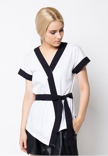 Sequel white Kimono Top In White - White SE531AA27MGIID_1