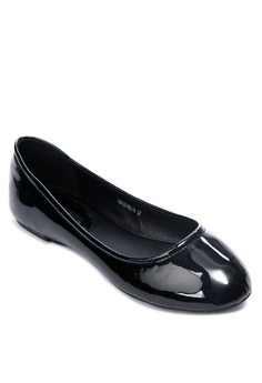 Lacquer Finish Ballet Flats