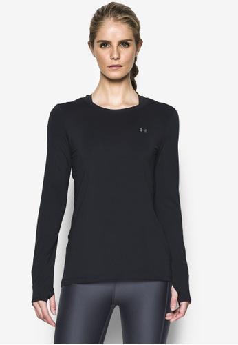 Under Armour black UA HeatGear® Armour Women's Long Sleeve Top UN337AA20VYTMY_1