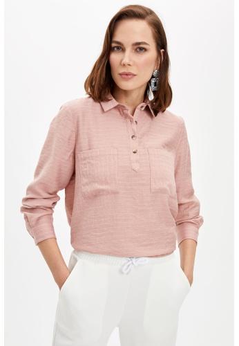 DeFacto pink Woman Long Sleeve Tunic 0E115AA63E8735GS_1