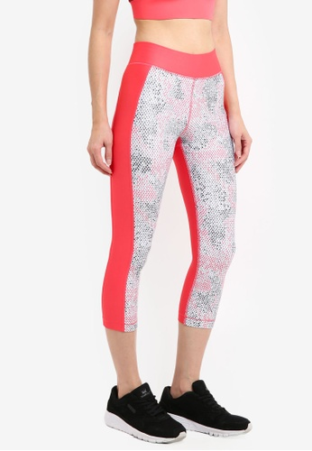 Under Armour pink UA HG Print Armour Capri Pants UN337AA0SU79MY_1