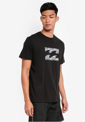 Billabong 黑色 短袖印花T恤 BI783AA0SXGWMY_1
