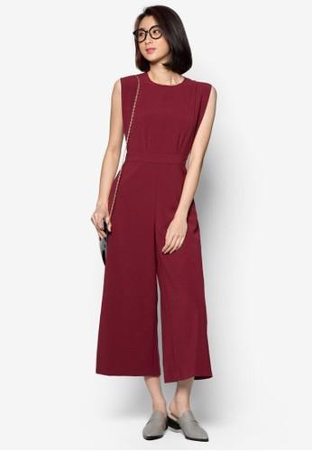 九分zalora 衣服評價寬管連身褲, 服飾, 服飾