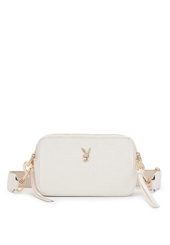 PLAYBOY BUNNY 米褐色 Women's Sling Bag / Shoulder Bag / Crossbody Bag B40BCACFD1725AGS_1