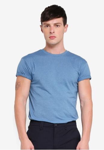 Topman 藍色 修身T恤 FCD64AA8FD512CGS_1