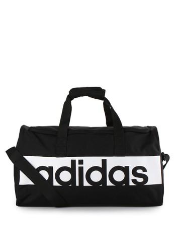 adidas black adidas linear performance duffel bag small AD349AC81AYSID_1