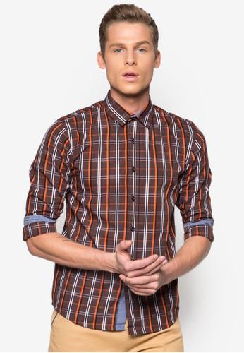 格紋長袖襯衫, 服飾, esprit暢貨中心襯衫