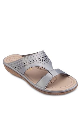 沖孔平底涼鞋, 女esprit服飾鞋, 鞋