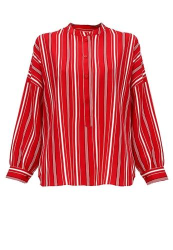 POPLOOK red Anifa Drop Shoulder Blouse 682DBAA5D227B4GS_1