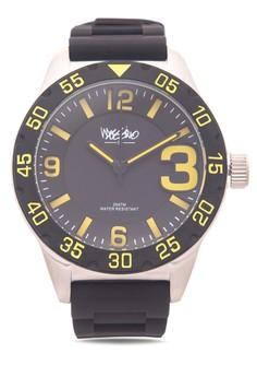 Big Three Unisex Rubber Strap Watch MS-1609G