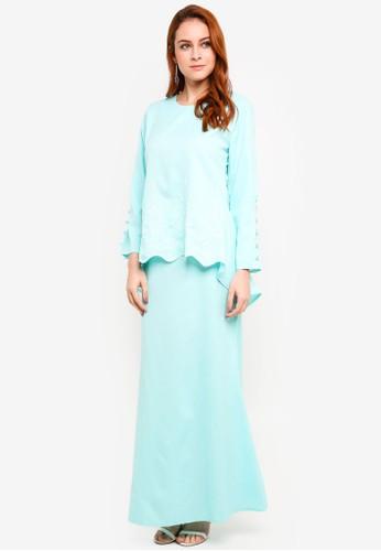 BYN green Baju Kurung Modern 79647AA563A2F4GS_1
