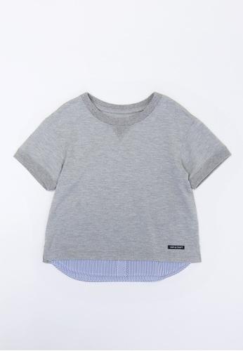 HÄP & CRAFT grey UV protection layered T-shirt DC886KA7330032GS_1