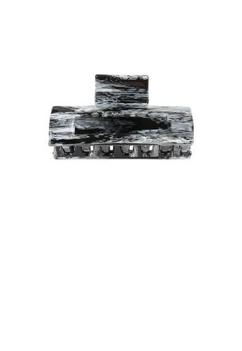 Glamorousky grey Simple Fashion Striped Gray Geometric Hair Claw D2133AC6B95CAAGS_1