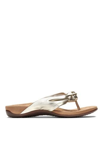 Vionic silver Pippa Toe Post Sandal D5C5FSH89D5D26GS_1