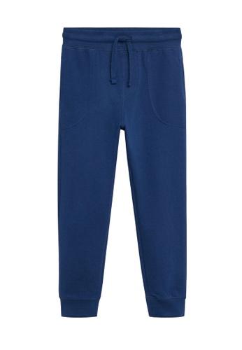 MANGO KIDS blue Organic Cotton Jogger Trousers DB99AKAE49B2EEGS_1