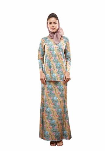 TUSCA green Waffiya Kurung Mini 8929AAA7553FF1GS_1
