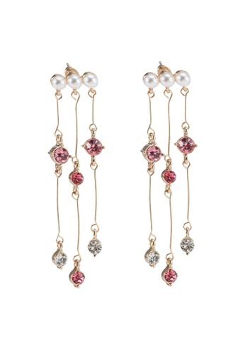 Saturation multi Hyuna Pearl Drop Earrings D9350AC258F5A5GS_1