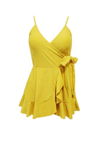 Twenty Eight Shoes yellow VANSA  One-Piece Swimsuit  VCW-Sw10 4FA15USD259D4AGS_1