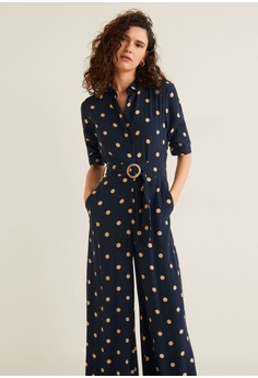 0cfb9130f07a3 Mango Polka Dot Long Jumpsuit RM 313.90. Sizes XS S M L