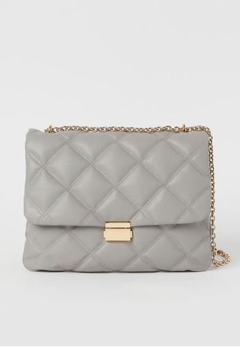 H&M grey Quilted Shoulder Bag EC38DACC54F28DGS_1
