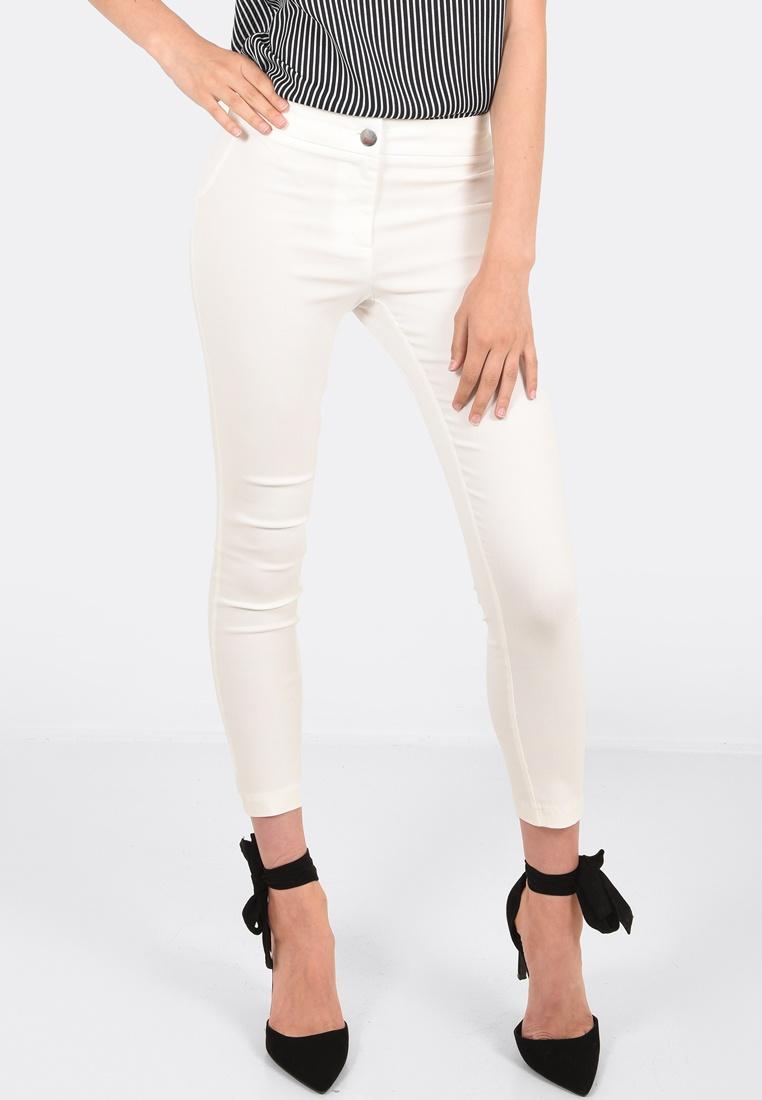 Ivory Slim Pants Vera Cropped FORCAST wIXqOn5RT