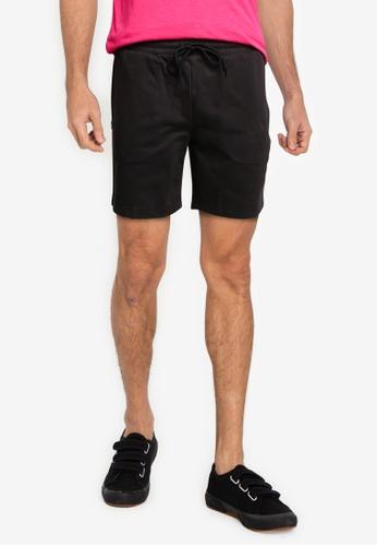 UniqTee black Summer Shorts 77542AA7B02D63GS_1