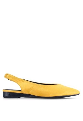 BETSY 黃色 Julia 後繞帶平底鞋 D4051SH311BA81GS_1