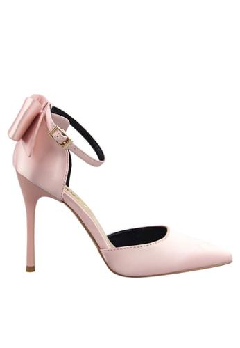 Twenty Eight Shoes 粉紅色 雙蝴蝶結晚裝及新娘鞋 VP51961 A2EBBSH7223C99GS_1