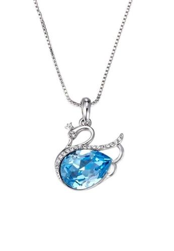 ADORA blue Swarovski Swan Pendent Necklace EBC05AC699C425GS_1