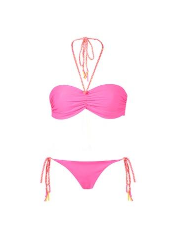 My Flash Trash 粉紅色 and 黃色 雙面比堅尼泳衣 4A8CEUSF01667BGS_1