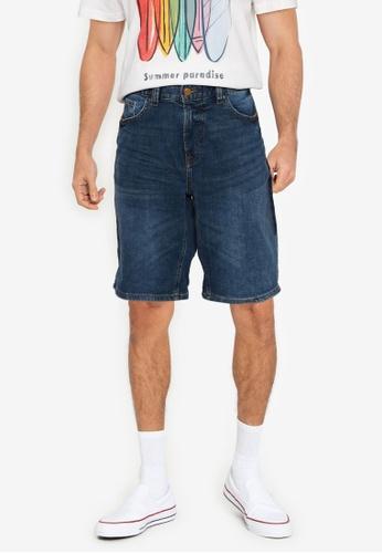 Springfield blue Green Dark Wash Denim Bermuda Shorts B6A56AAA059869GS_1