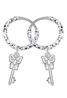 Ribbon Key Loop Dangling Earring