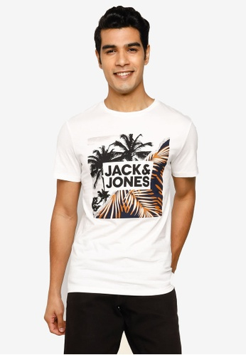 Jack & Jones white Stein Short Sleeve T-Shirt 6320BAAC9EE168GS_1