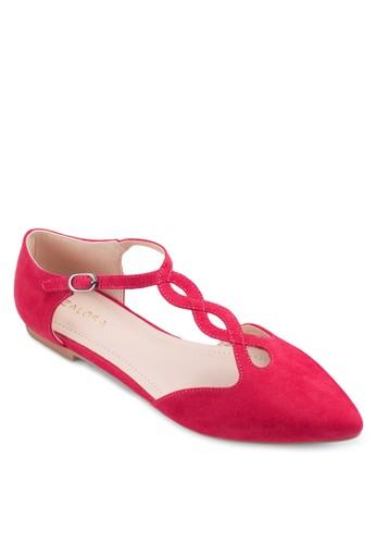 造型T 字帶側空平底鞋, 女鞋,zalora 心得 ptt 鞋