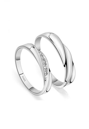Elfi silver 925 Genuine Silver Couple Ring C1. The Oath EL186AC52IIXMY_1