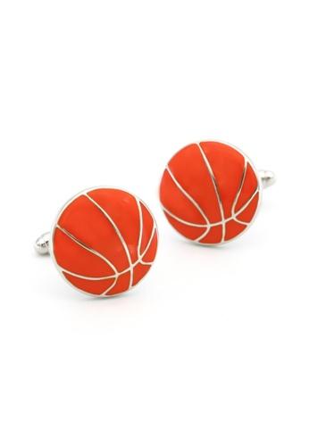 Kings Collection orange Orange Basketball Cufflinks (KC20326) E2D29AC5F71A5EGS_1