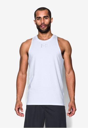 Under Armour white UA Baseline Cotton Tank T-Shirt UN337AA0SU3EMY_1