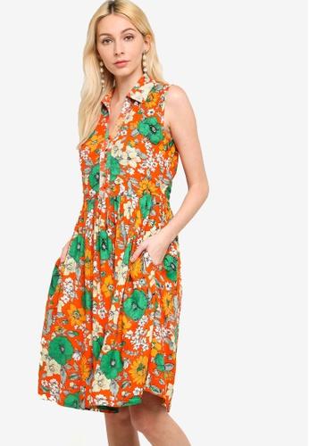 French Connection orange Iona Valetudo Dress 0F9D1AA26E2519GS_1