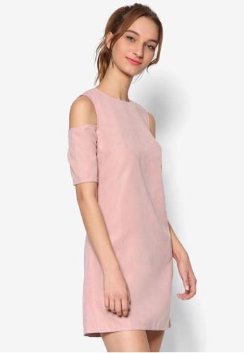 挖肩短袖A 字連身裙,zalora taiwan 時尚購物網鞋子 服飾, 洋裝