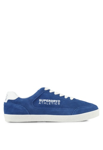 Superdry white and blue Superdry Athletics Trainers 21A49SHC67351DGS_1