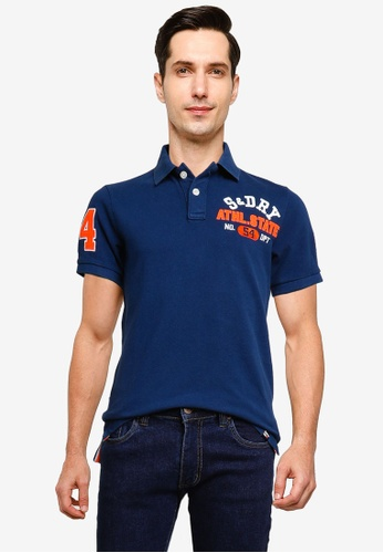 SUPERDRY blue Classic Superstate Short Sleeve Polo Shirt 3BE08AA0166521GS_1